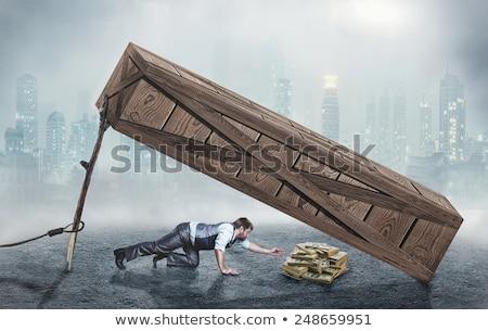 Argent piège économies photo pièces piégé Photo stock © ralanscott