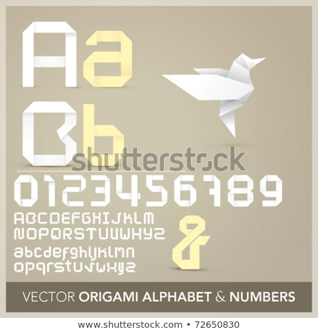 vektor · kék · papír · szalag · terv · művészet - stock fotó © orson