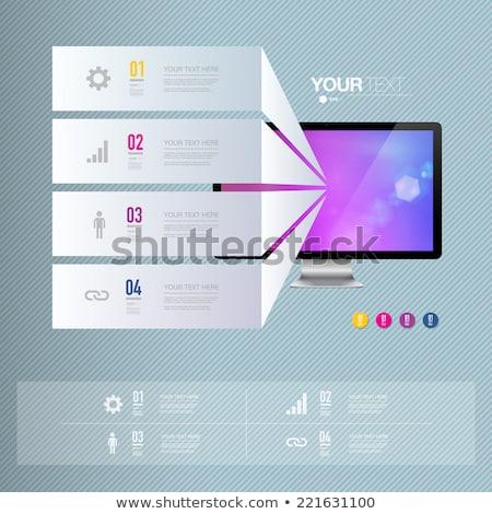 ストックフォト: セット · カラフル · ベクトル · サンプル · オプション · ボックス