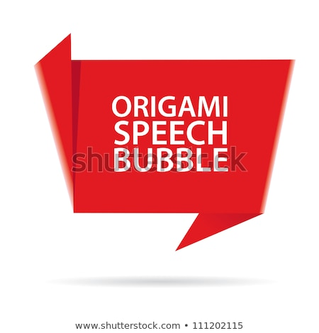 Vector Red Paper origami ribbon stock photo © orson