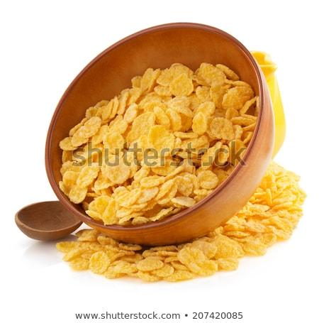 Cornflakes pot heerlijk melk Geel voedsel Stockfoto © vargyasi