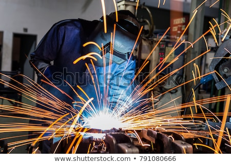 Сток-фото: сварки · свет · технологий · мужчин · завода · рабочих
