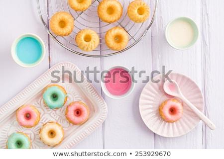 mini fancy cakes stock photo © inganielsen