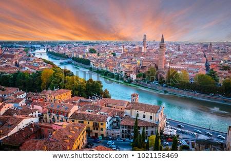 paisaje · urbano · verona · barrio · antiguo · Italia · vista · río - foto stock © fazon1