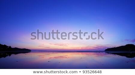 sunrise scene at the east coast of phuket island thailand long stock photo © moses