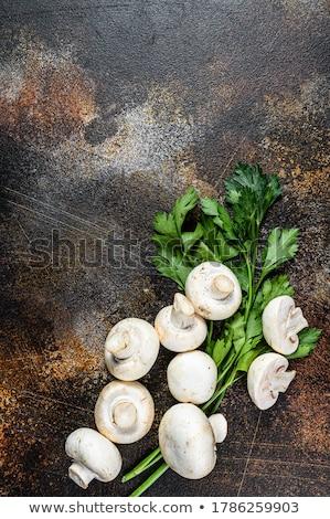 Biały pieczarka grzyby odizolowany Zdjęcia stock © zhekos