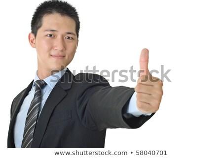 красивый деловой человек давать отлично жест бизнеса Сток-фото © cozyta