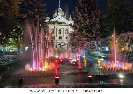 Singing fountain, Main Square, Kosice, Slovakia Stock photo © phbcz