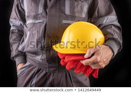 Férfi dolgozik különleges ruházat sisak vektor Stock fotó © yura_fx