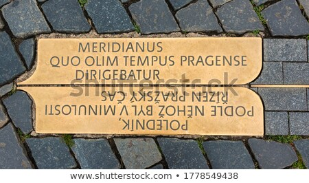 Meridian Line Marker Stone Stock photo © suerob