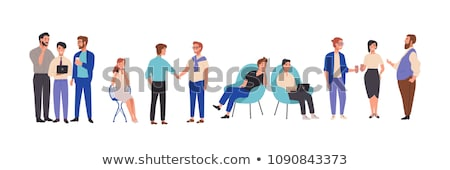 Colorful talking characters Stock photo © ThomasAmby
