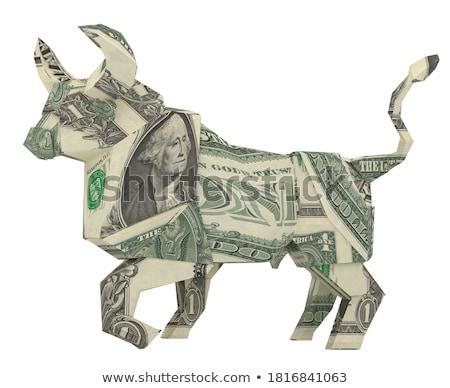 Dolar · byka · tle · biały · pieniężnych · czas - zdjęcia stock © Paha_L