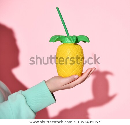 Woman carrying glass of juice Stock photo © photography33