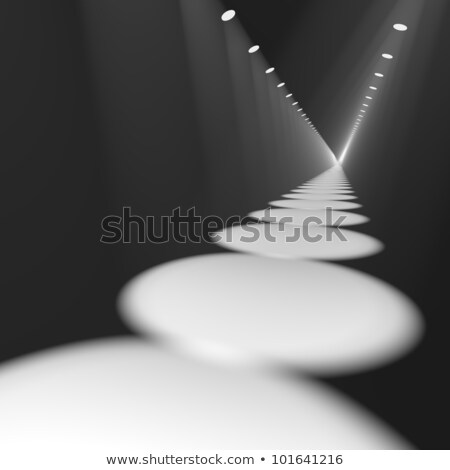 white spotlights in a row on stage for highlighting or showing a stock photo © stuartmiles