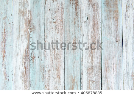 wooden background with horizontal boards painted in white stock photo © bogumil