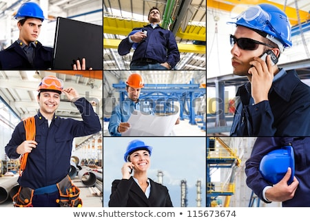 Collage of an engineer working on-site Stock photo © photography33