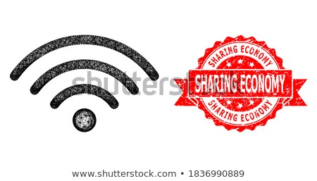 abstract red based communication web icon Stock photo © pathakdesigner