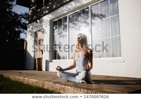 Zen garden at a sunny morning Stock photo © 3523studio