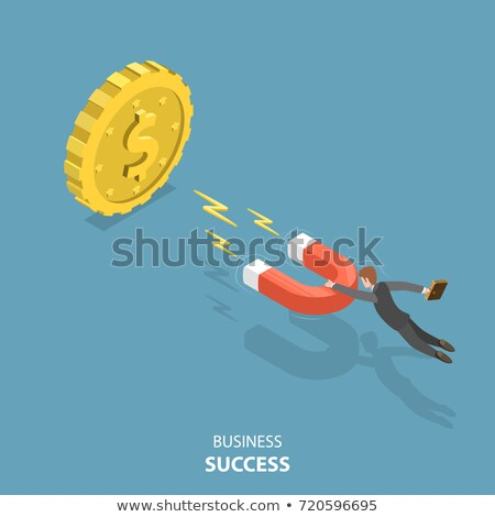 Magnet and coins. Stock photo © timurock