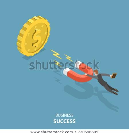 dourado · prata · moedas · ilustração · negócio · projeto - foto stock © timurock