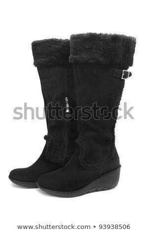 fekete · magas · sarok · cipők · kézitáska · kuplung · izolált - stock fotó © ruslanomega
