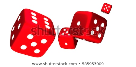 gambling illustration with four red dice Stock photo © articular