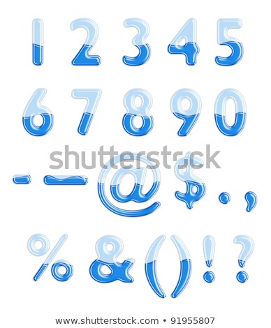 Photo stock: Eau · liquide · ponctuation · point · d'exclamation · alphabet · gel