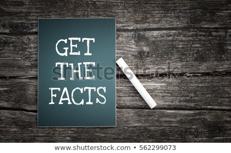 Chalkboard - Facts Stock photo © kbuntu