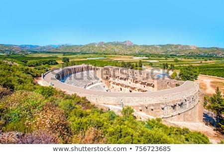 Edad teatro abierto círculo arqueología Grecia Foto stock © Hermione