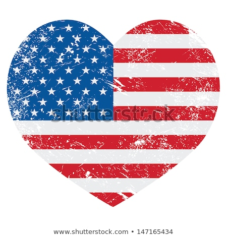Image of heart with flag of United States Stock photo © perysty