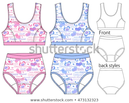 back in hearts pattern panties Stock photo © dolgachov