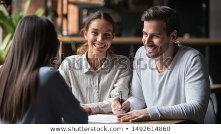happy couple in conversation stock photo © photography33