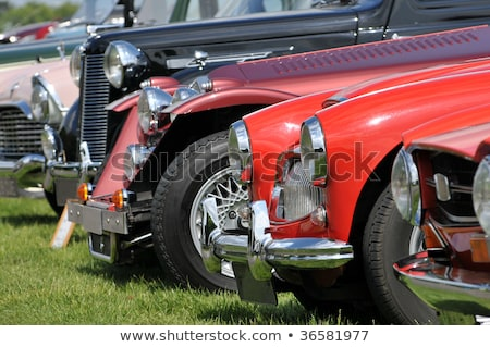 Stock photo: Antique car fender