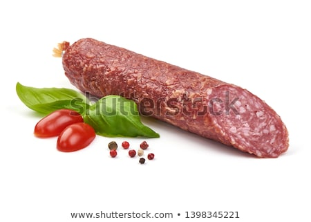 Photo stock: Viande · saucisses · salami · grand · variation · suspendu
