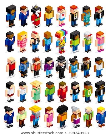 3D Pixel Icons - vector Stock photo © meshaq2000