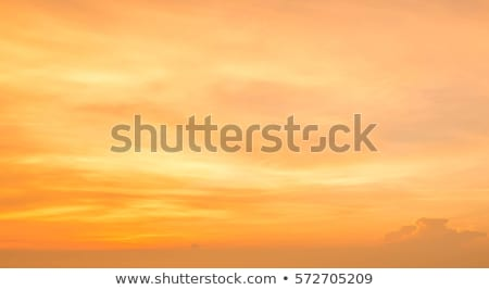 Cer galben portocaliu nori peisaj fundal Imagine de stoc © mariephoto