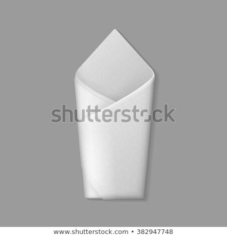 envelope · guardanapo · copo · café · madeira · beber - foto stock © a2bb5s