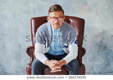 харизматический · бизнесмен · очки · белый · человека - Сток-фото © wavebreak_media