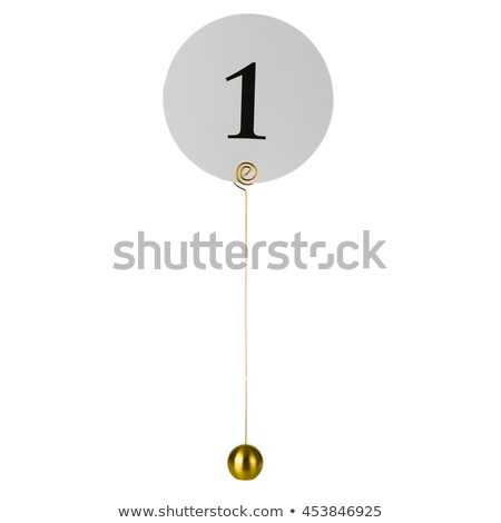 Banket tabel aantal kaart afbeelding gewoonte Stockfoto © gregory21