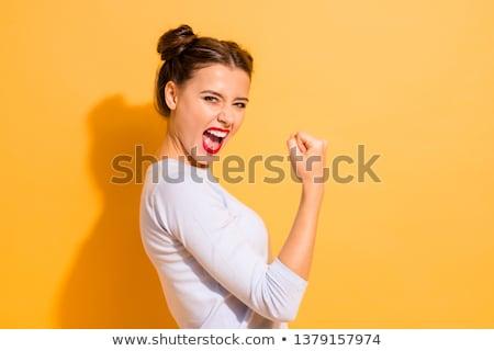 kobieta · jasne · uśmiech · kopia · przestrzeń · kobiet - zdjęcia stock © stockyimages