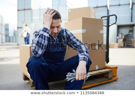Stressed warehouse worker Stock photo © photography33