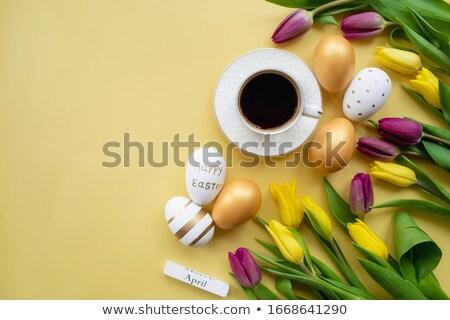 красочный карт пасхальное яйцо Пасху весны Сток-фото © juliakuz
