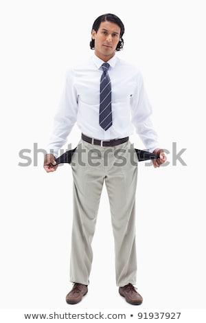 portré · üzletember · mutat · üres · fehér · üzlet - stock fotó © wavebreak_media