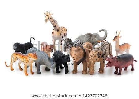 Brinquedo animais isolado branco feliz abstrato Foto stock © kitch