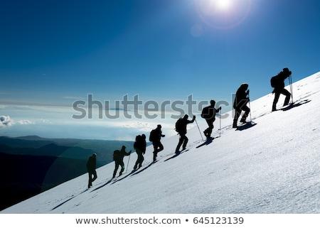 íngreme montanhas verão paisagem céu nuvens Foto stock © Kotenko