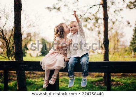 çocuk · portre · küçük · erkek · oynama · kum - stok fotoğraf © Lessa_Dar