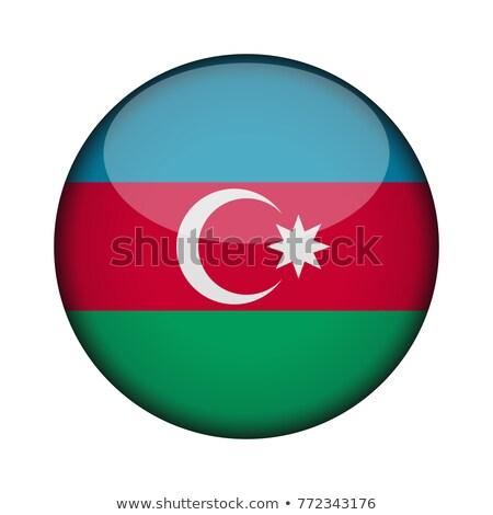Azerbaiyán · bandera · mapa · país · forma - foto stock © ustofre9