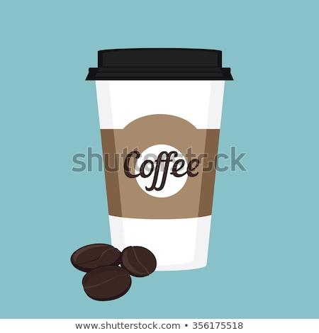 Zdjęcia stock: Fotele · biały · papieru · żywności · kawy