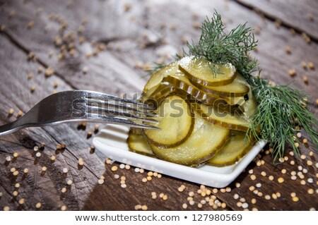 Picles prato pepino branco Foto stock © tab62