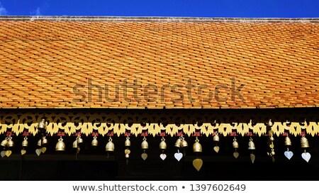 Oração sino velho grande mantra Nepal Foto stock © THP